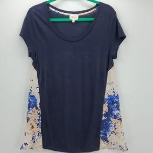 DELETTA cotton & polyester top